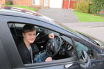 One of Chris Blakes driving school pupils - Jordan from Shifnal