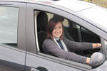One of Chris Blakes driving school pupils - Katrina from Sutton Maddock